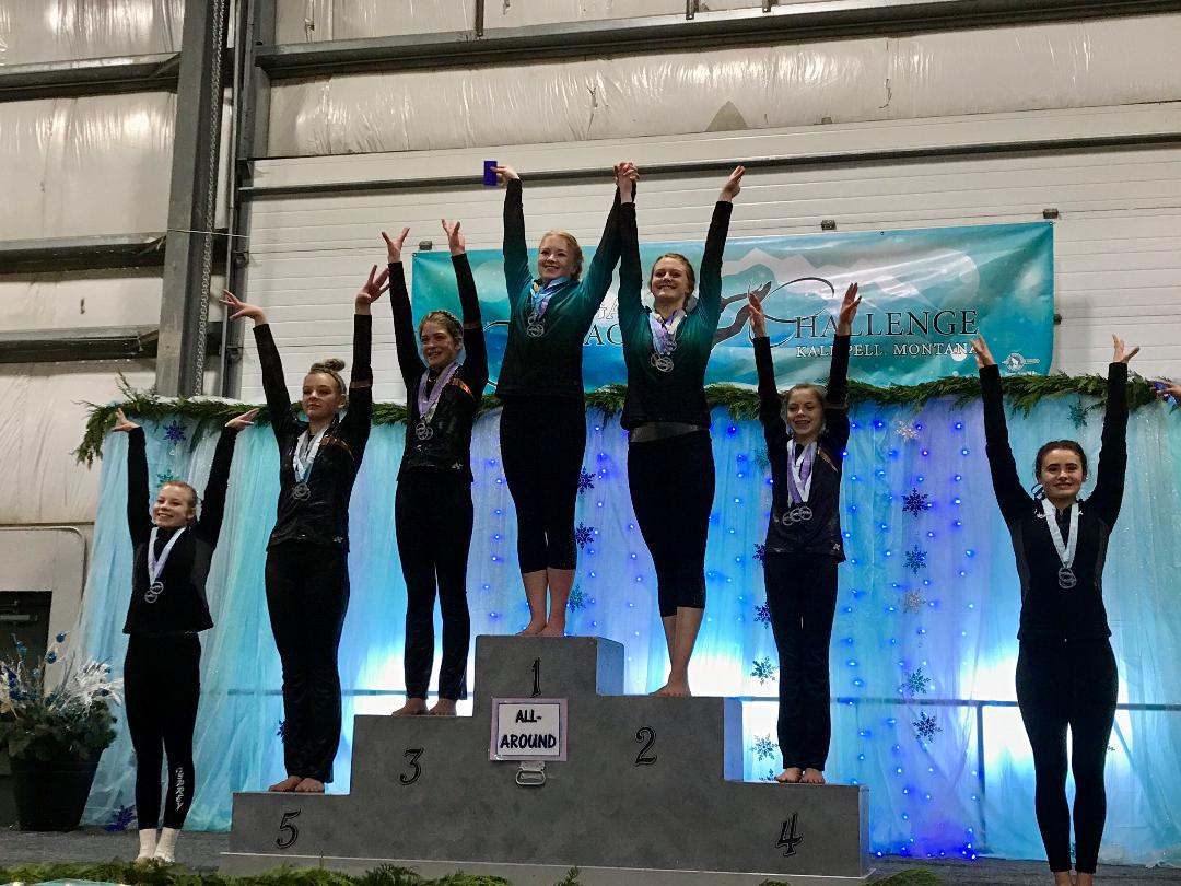 Natalie took 1st AA and Amber took 2nd AA for XCel Platinum